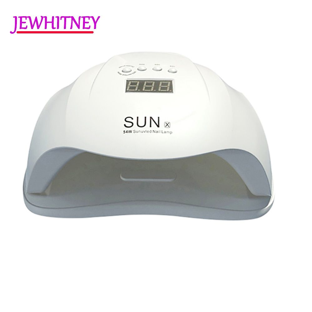 54W UV Lamp LED Nail Lamp Nail Dryer For All Gels Polish Two Hand Lamp With Infrared Sensing 15/30/60s LCD display Light