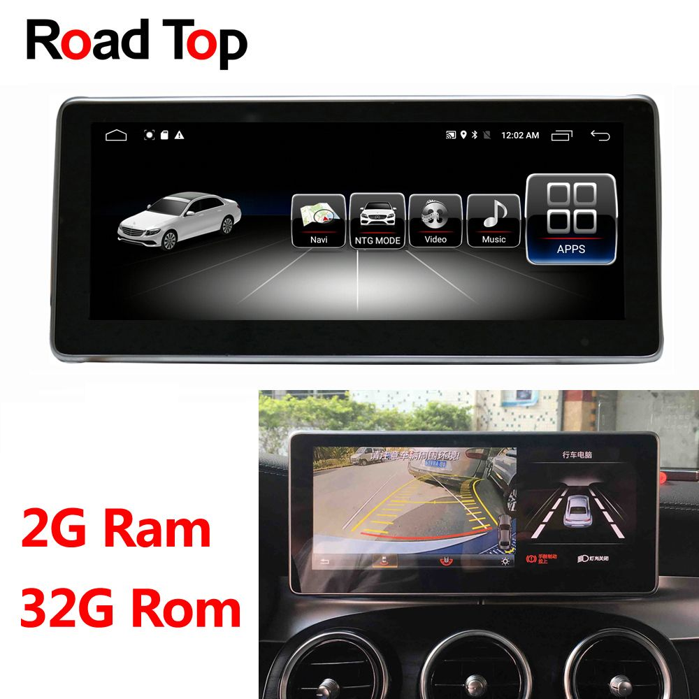 Android 8.1 Octa 8-Core 2 + 32G Auto Radio GPS Navigation WiFi Bluetooth Kopf Einheit Bildschirm für Mercedes benz C Klasse W205 2014-2017