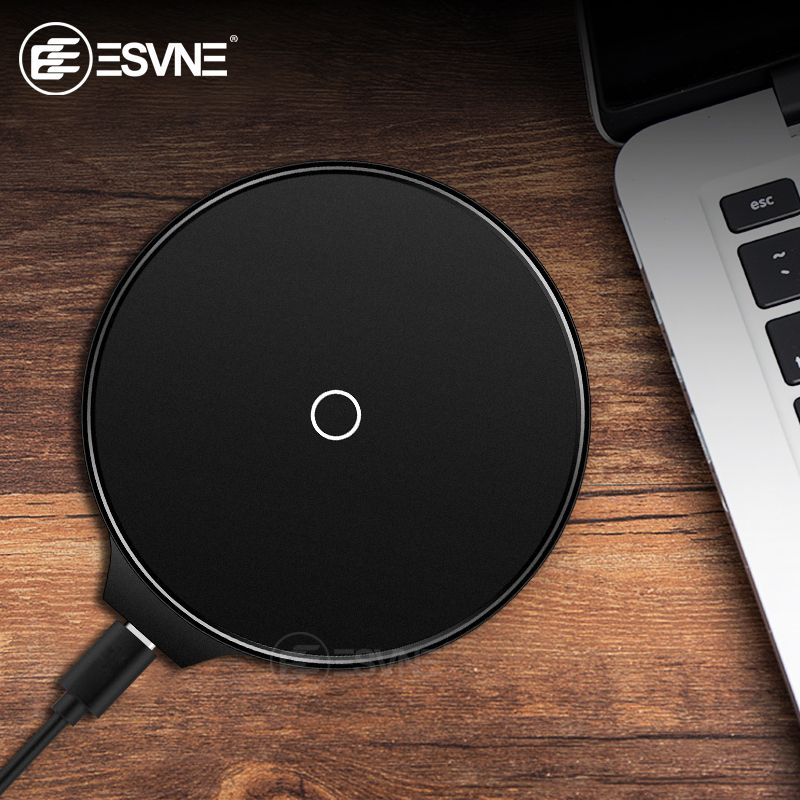 ESVNE 5W 10W Qi Wireless Charger For iphone X XS 8 Plus Fast Charger For Samsung Xiaomi Huawei USB Phone Charger For iphone
