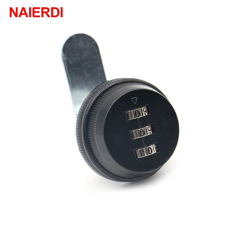 NAIERDI Combination Cabinet Lock Black/Silver Zinc Alloy Password Security Home Automation Cam Lock For Mailbox Cabinet Door