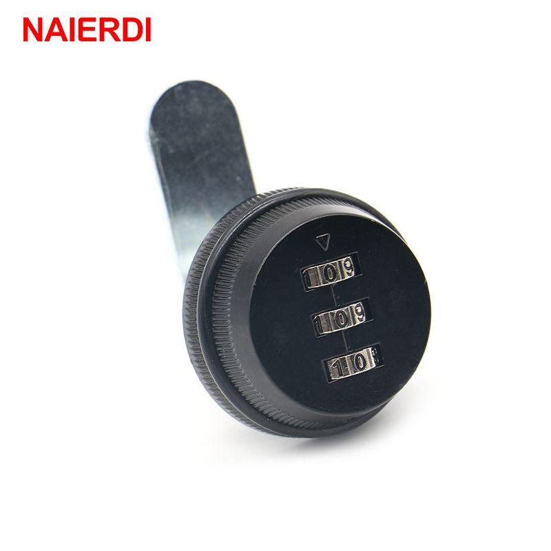 NAIERDI combinaison armoire serrure noir/argent en alliage de Zinc mot de passe sécurité domotique Cam Lock pour boîte aux lettres armoire porte
