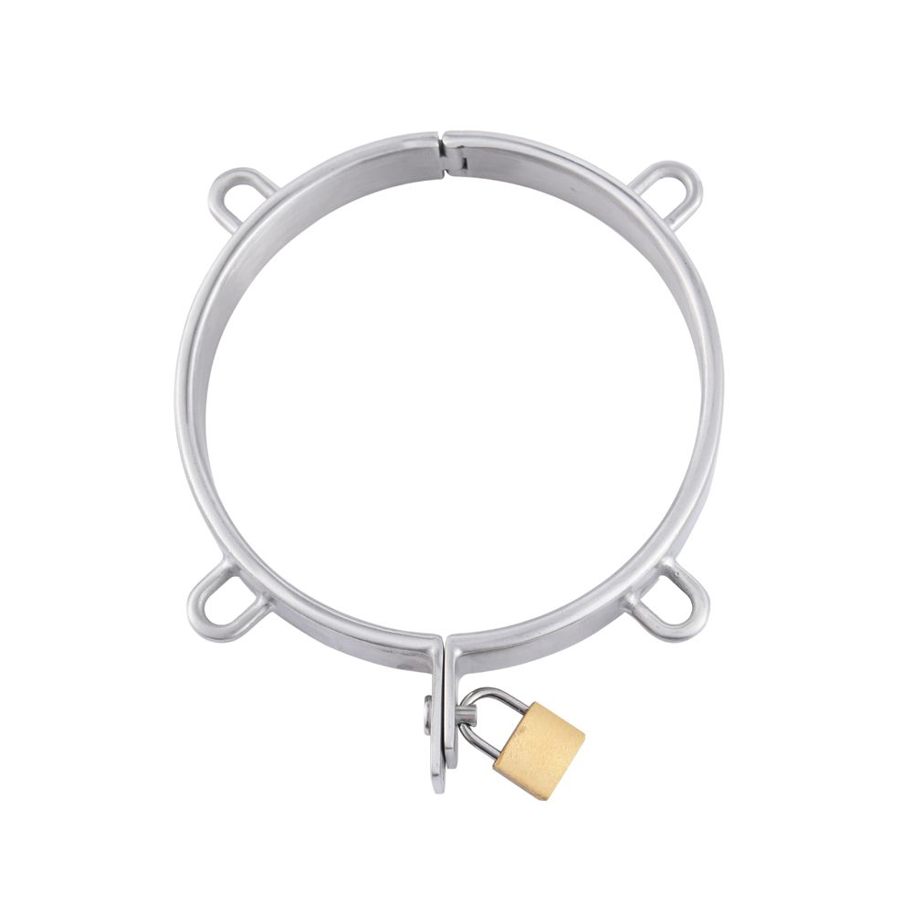 Dia132mm stainless steel Neck Collar pull ring Adult Slave Role Play metal For male SM restraint bondage Sex Game couple toy