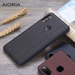Desain Kayu Case untuk Xiaomi Redmi Note 5 TPU Silikon & PC & Kayu PU Kulit Penutup Kulit Tritone fundas Redmi Note 5 Pro