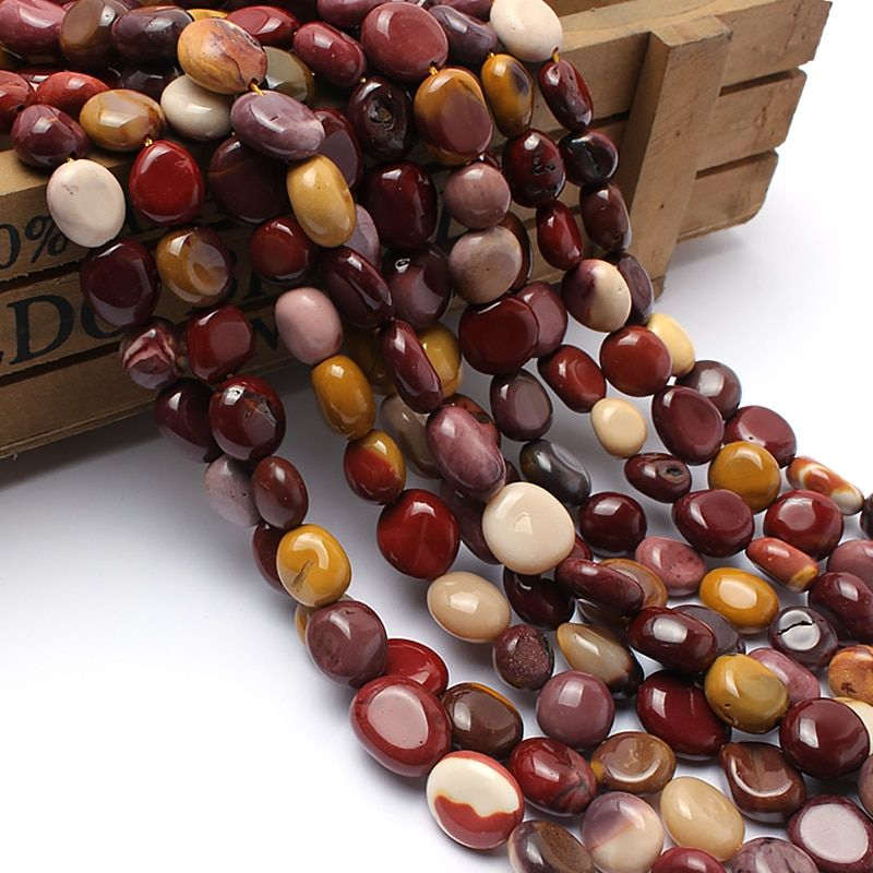Natural Stone Beads 8-10mm Irregular Mookaite Jasper Stone Beads For Jewelry Making Bracelet Necklace 15inches