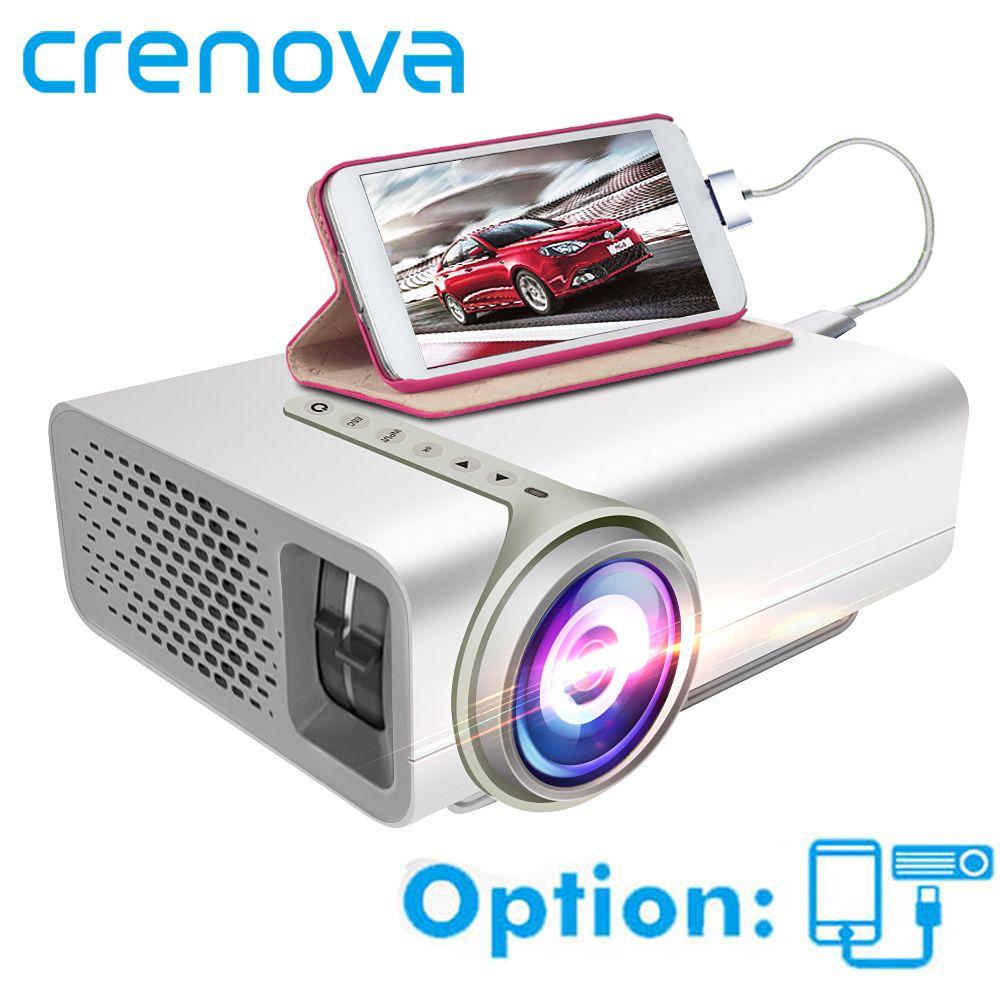CRENOVA Mini Projektor Für Heimkino System Film Video Projektor Mit HDMI VGA AV USB Verdrahtete Mit Die Gleichen Bildschirm beamer