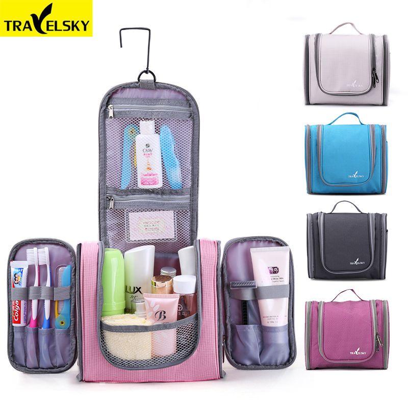 Travelsky Family Travel Organizer Bag Hanging <font><b>Toilet</b></font> Makeup Bag Women's Waterproof Washing Toiletry Handbags Men Cosmetic Bags