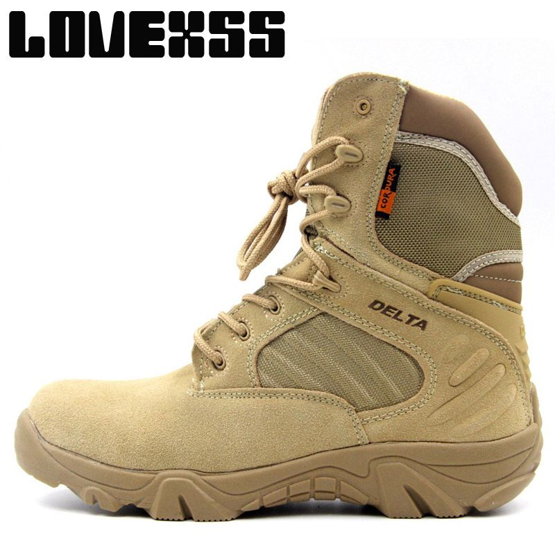 LOVEXSS Outdoor Athletic Hiking Shoes For Men Tactical Boots Trekking Sport Shoes Man Brand Climbing Mountain Men's Sneakers