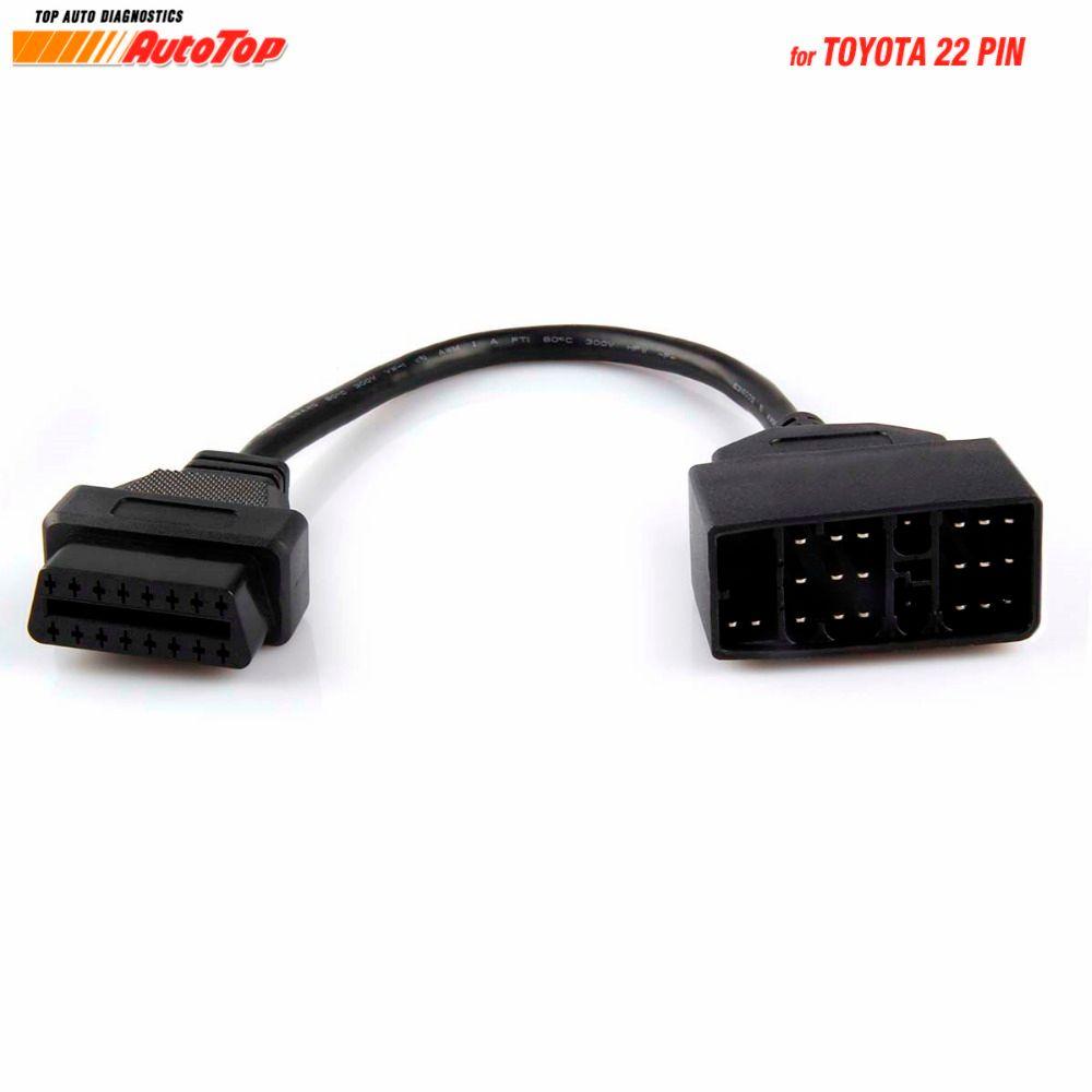 Для toyota диагностический кабель 22 Булавки OBD диагностический разъем к OBD2 16 Булавки кабельный разъем для Toyota 22 Булавки авто автомобиль Интимн...