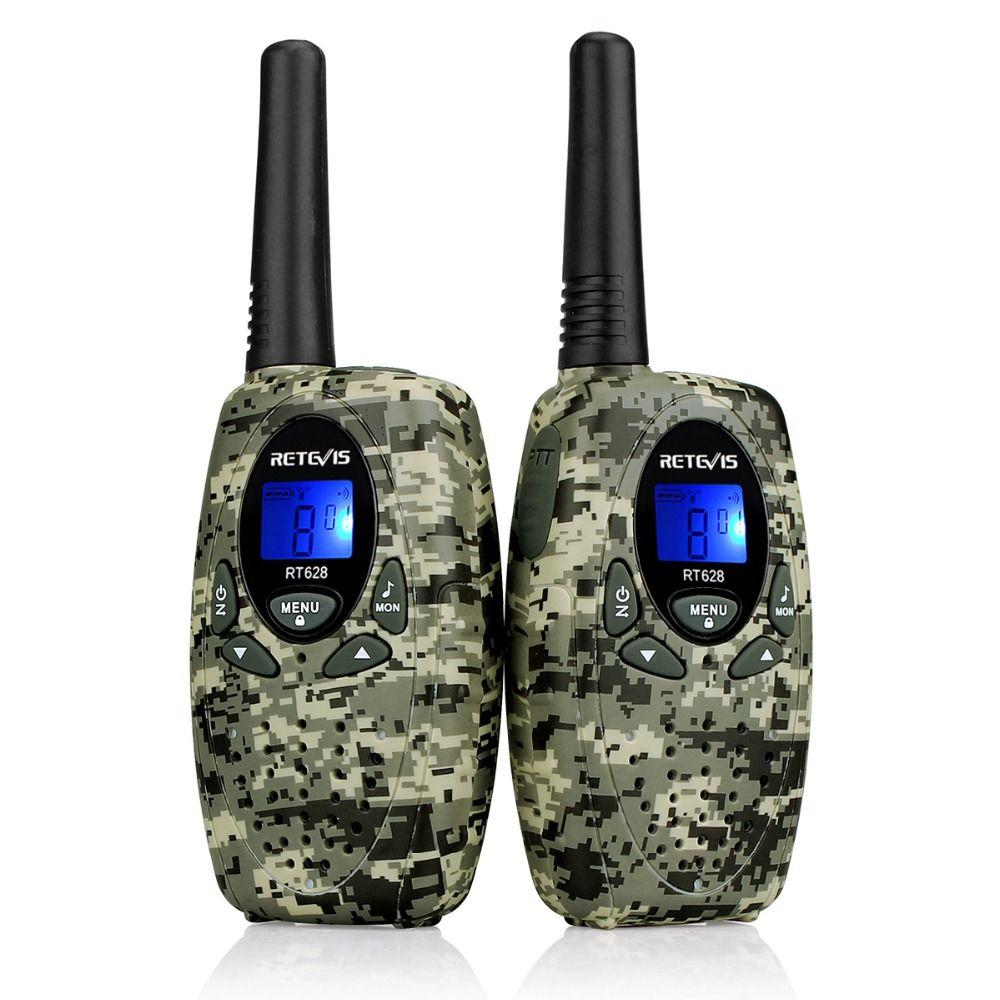 2pcs Retevis RT628 Toy Walkie Talkie Mini Kids Radio 0.5W PMR PMR446 FRS GMRS 8/22CH VOX Children 2 Way Radio Transceiver Gift