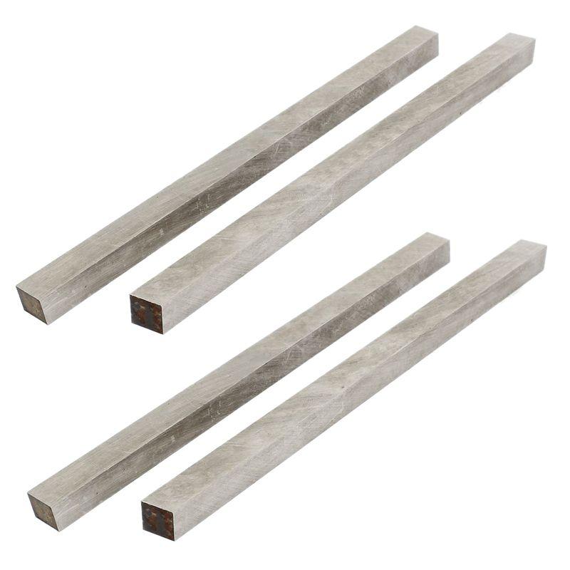 4x Schnellarbeitsstahl HSS CNC Drehmaschine Schneidwerkzeug Bits Bar 10x10x200mm Silber