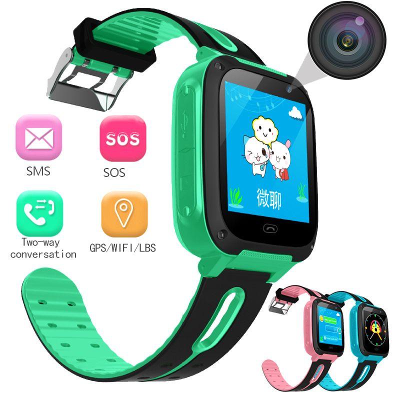 BANGWEI 2018 Neue Kinder Uhr Sicherheit anti-verloren Smart Uhr Mit Kamera Beleuchtung SOS Für IOS Android Kinder Smart uhr LED