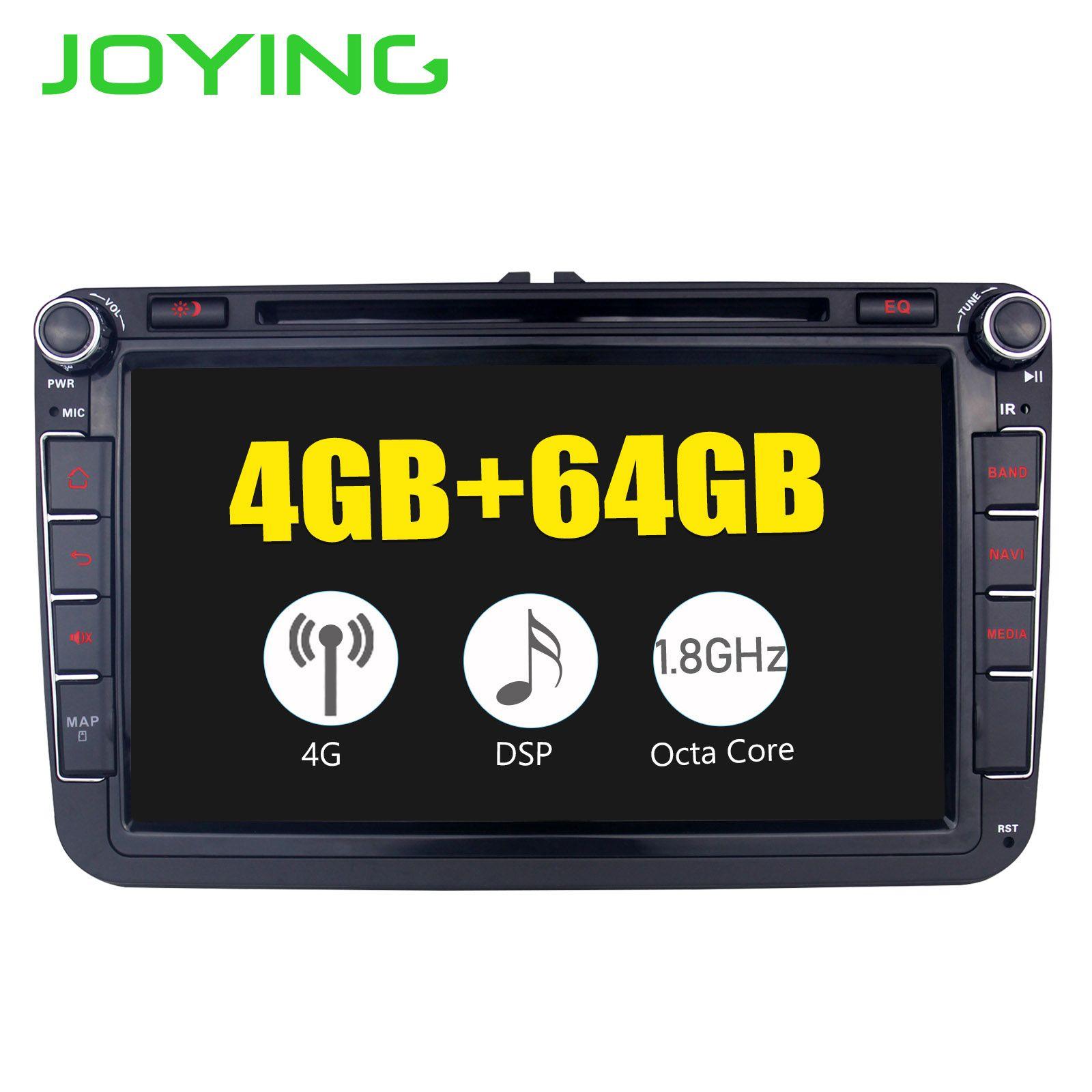 JOYING 4 GB Android 8.1 auto radio GPS player 8 core kopf einheit mit SPDIF für VW POLO/JETTA/ SKODA/Octivia/SuperB Band recorder