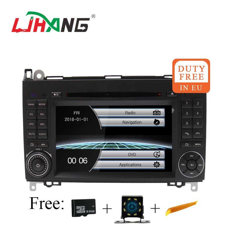 LJHANG 2 Din Auto DVD GPS Für Mercedes Benz B Klasse B200 W169 W245 W639 Viano Vito Sprinter B170 Auto stereo USB Spiegel Link RDS