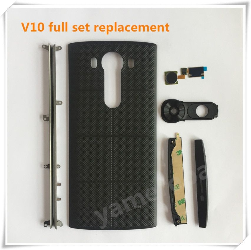 Yamerepair for Lg V10 full set housing Repair part H961N back cover side stripes touch id camera lens top bottom cover for F600