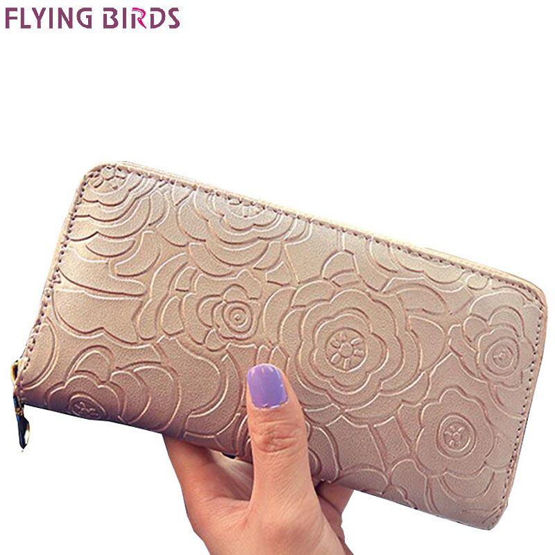FLYING BIRDS portefeuilles femmes portefeuille célèbre marques porte-monnaie dollar prix 2017 nouveau sacs à main designer titulaire de la carte d'embrayage A116fb
