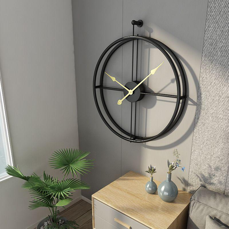 Large Metal Wall Clock Modern Design Minimalism European Style Luxury Big Clocks Living Room Art Iron 3D Wall Watch Home Decor