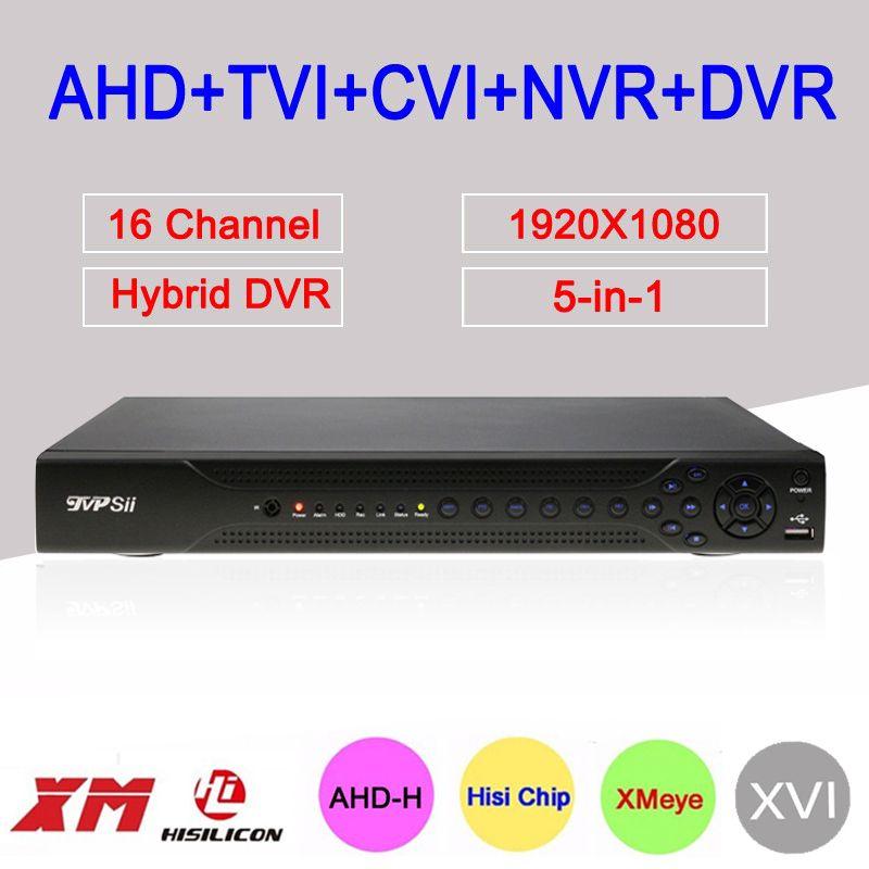 Hi3531A Dahua Exterior 16 Channel 16CH Two SATA Five in One Coaxial Hybrid Wifi 1080P HD CVI TVI AHD DVR NVR Free Shipping