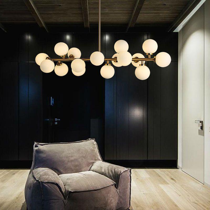 Moderne Glas Bälle Anhänger Lampe Licht Luxus Zweig Kronleuchter Magie Bean LED Leuchte Wohnzimmer Dekoration