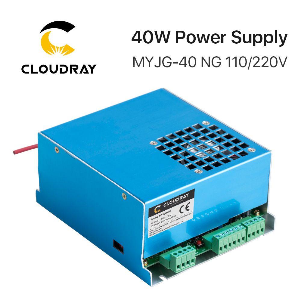 Cloudray 40W CO2 Laser alimentation MYJG-40T 110V 220V pour CO2 Laser gravure Machine de découpe 35-50W MYJG