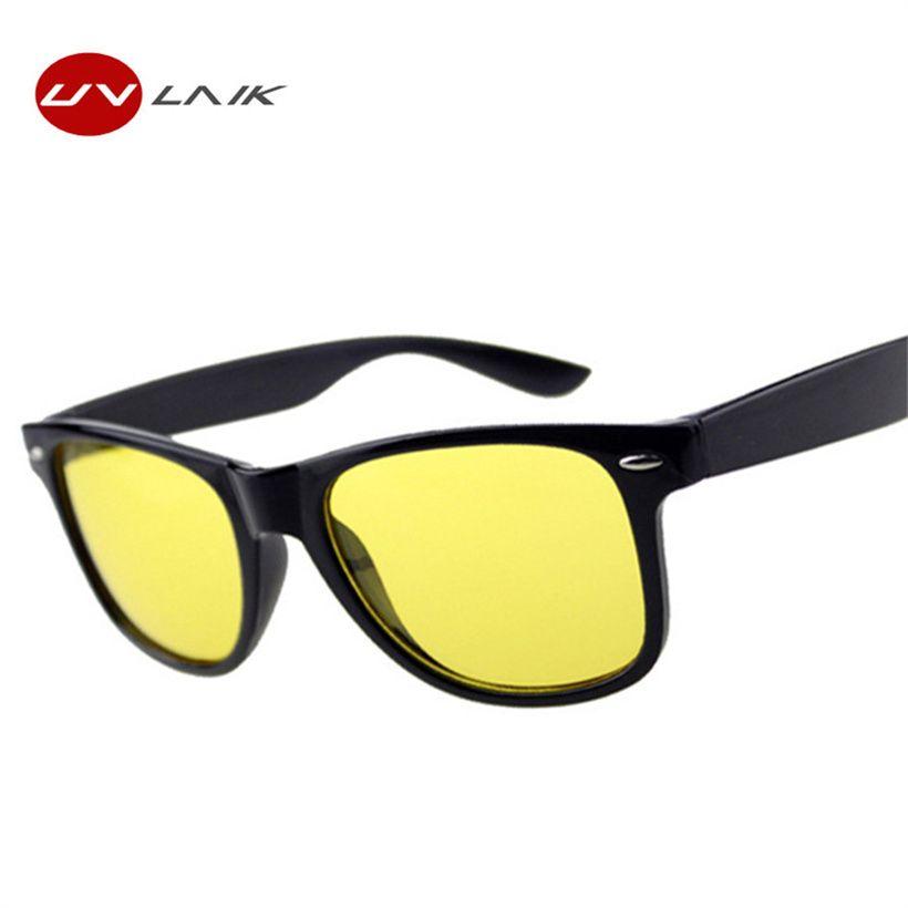 UVLAIK lunettes de Vision nocturne lunettes de soleil femmes hommes marque Designer femme homme conduite lunettes de soleil lentilles jaunes lunettes de femmes