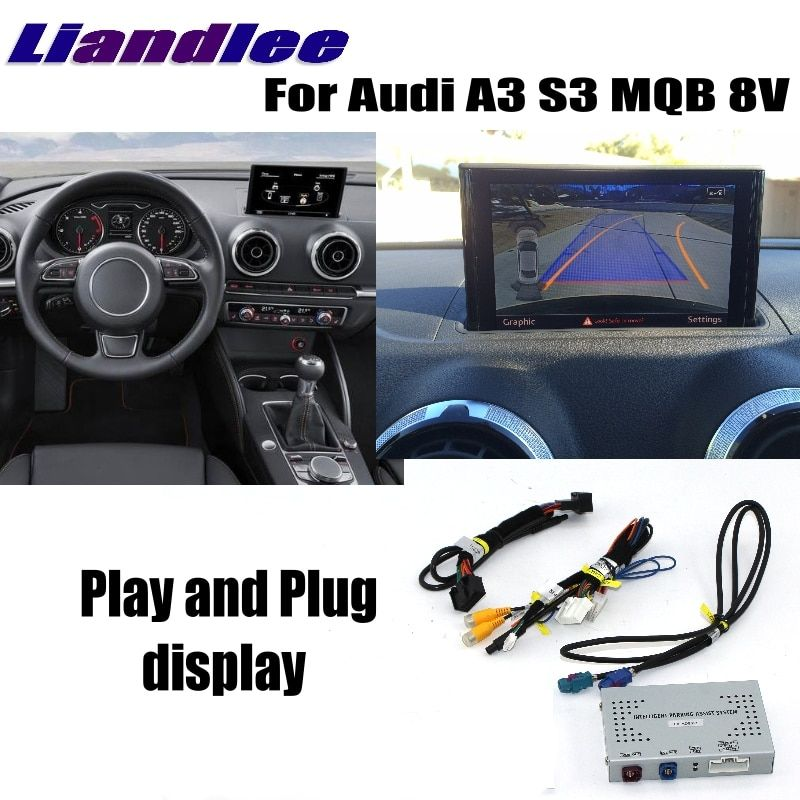 Liandlee Reverse Camera Interface Adapter Connect Original Screen Monitor For Audi A3 S3 MQB 8V MMI Improve