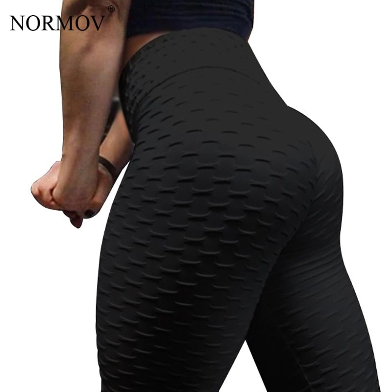 NORMOV Women Push Up Leggings High Waist Classic Trousers Female Workout Leggings Fitness Clothing Solid Breathable 6 Color