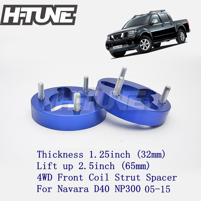 H-TUNE 4x4 Accesorios 32mm Front Coil Strut Shock Spacer Lift Kit for Navara D40 NP300 4WD 05-15