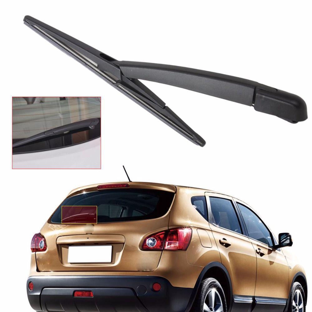 DWCX Car Wiper Kit Rear Window Windshield Wiper Arm + Wiper Blade Rainshield For Nissan Qashqai 2008 2009 2010 2011 2012 2013