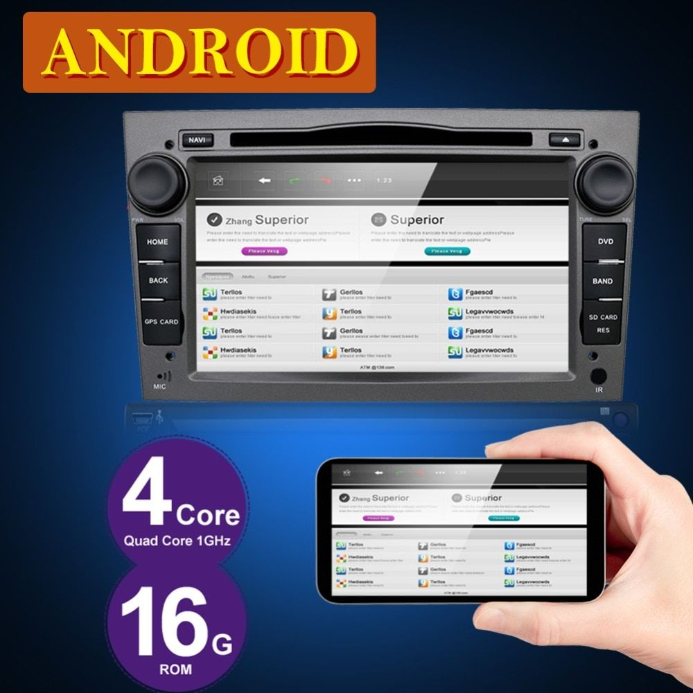 4 Core Android 7.1 HD1024*600 Car DVD Player 2G RAM For Opel Tigra Combo Vivaro Astra Vectra Antara Zafria Corsa GPS WiFi BT