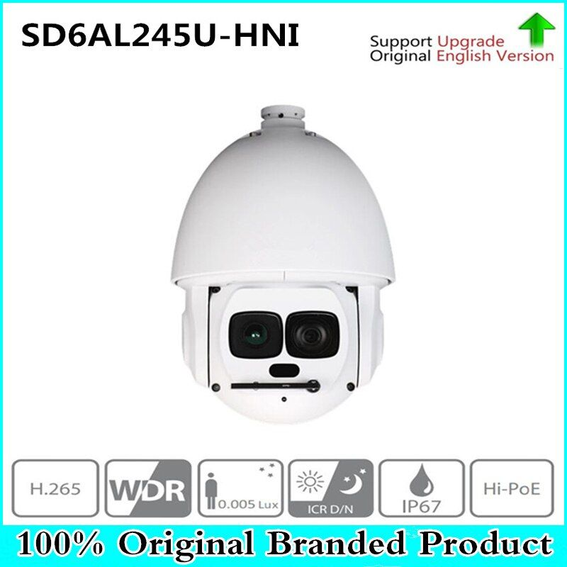 Original DH English version SD6AL245U-HNI 2MP 45x Starlight Laser PTZ Network Camera free DHL shipping