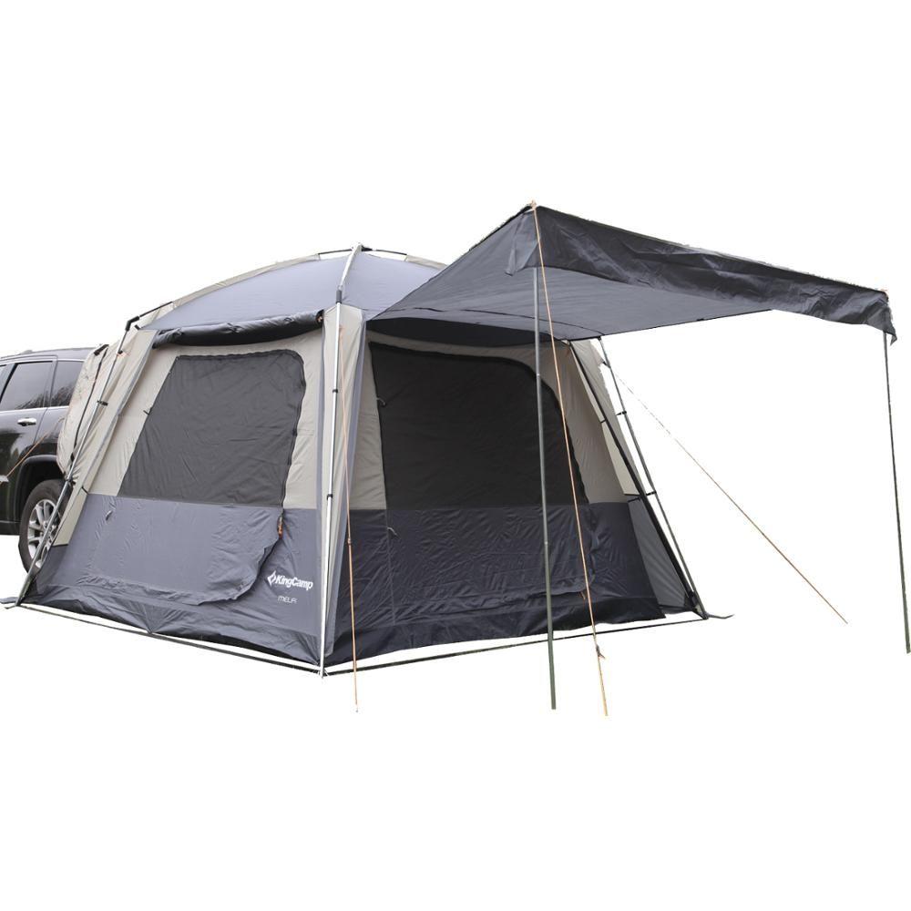 KingCamp Selbst-fahren Reisen Camping Zelte 5-Person Camping Doppel schicht Zelt 3-Saison Mit SUV Auto zelt für Outdoor
