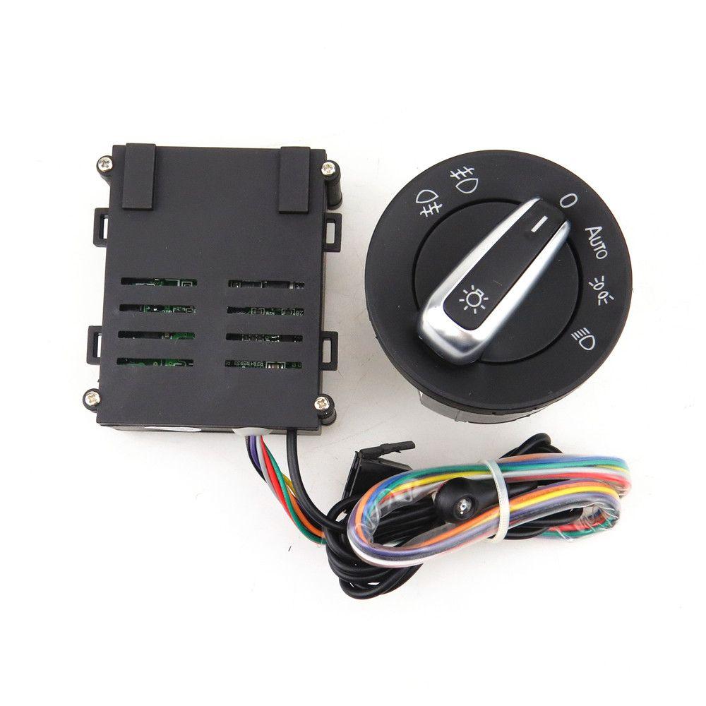 READXT Car Chrome Light Switch+Auto lamp Sensor Light For VW Golf 4 MK4 New Jetta MK4 Passat B5 Polo Bora Beetle 5ND 941 431 B