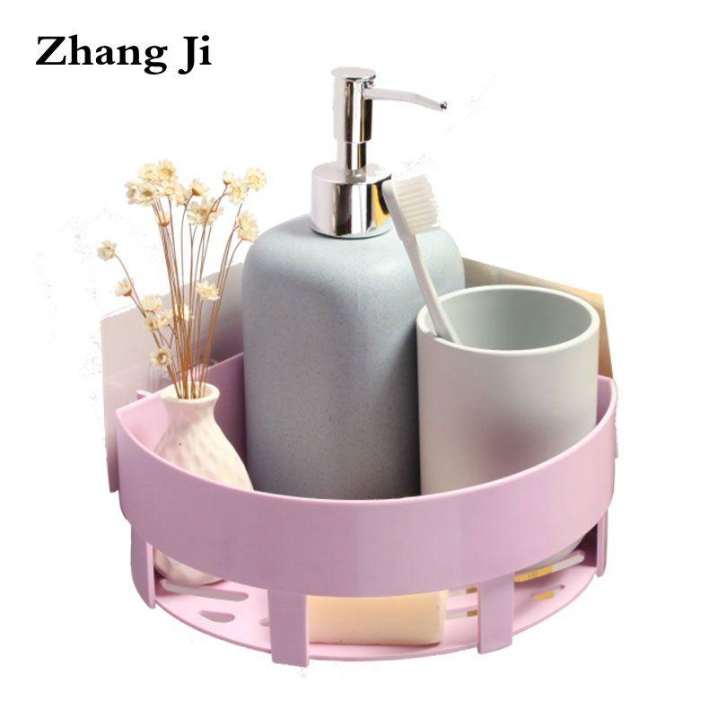 Zhang Ji Bad Produkt Wand Montiert Ecke Regale 2 Farbe Einfache Design Küche Lagerung Inhaber PP Material Aufbewahrungsbox ZJ035