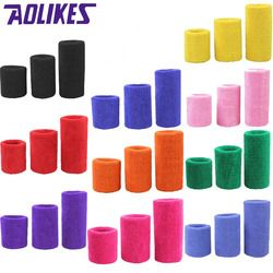 AOLIKES 1PCS Tower Wristband Tennis/Basketball/Badminton Wrist Support Sports Protector Sweatband 100% Cotton Gym Wrist Guard