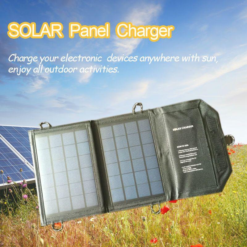 7 Watt Tragbare Falten Solar-Panel Stromquelle Mobile Usb-ladegerät mit iSolar Technologie für handys GPS Digital für Samsung