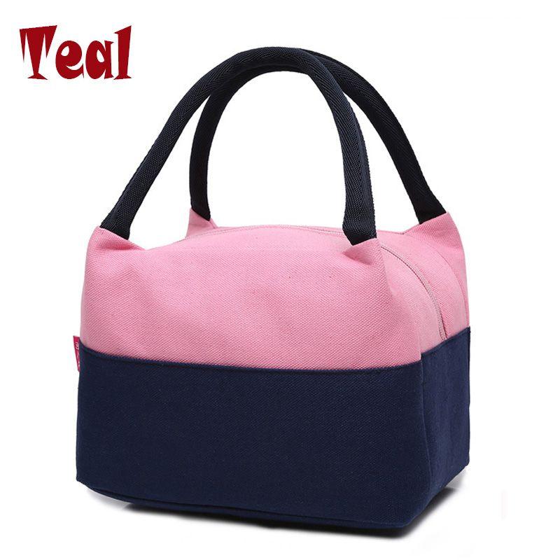 2017 nuevo bolso de las señoras de doble aislamiento almuerzo lonchera bolsa de equipaje de mano de las señoras paquete Oxford tela impermeable bolsa de lona