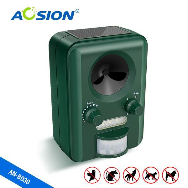Livraison gratuite Aosion Extérieure Utiliser Solaire ultrasons chien chat animaux repeller chaser Batterie Exploité avec batterie rechargeable