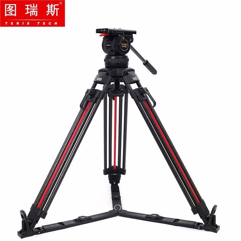 TERIS TRIX TX-V12T-PLUS-Q Carbon Fiber Video Kamera Stativ Kit Flüssigkeit Kopf 12KG Quick Lock Professional tripod für film kamera