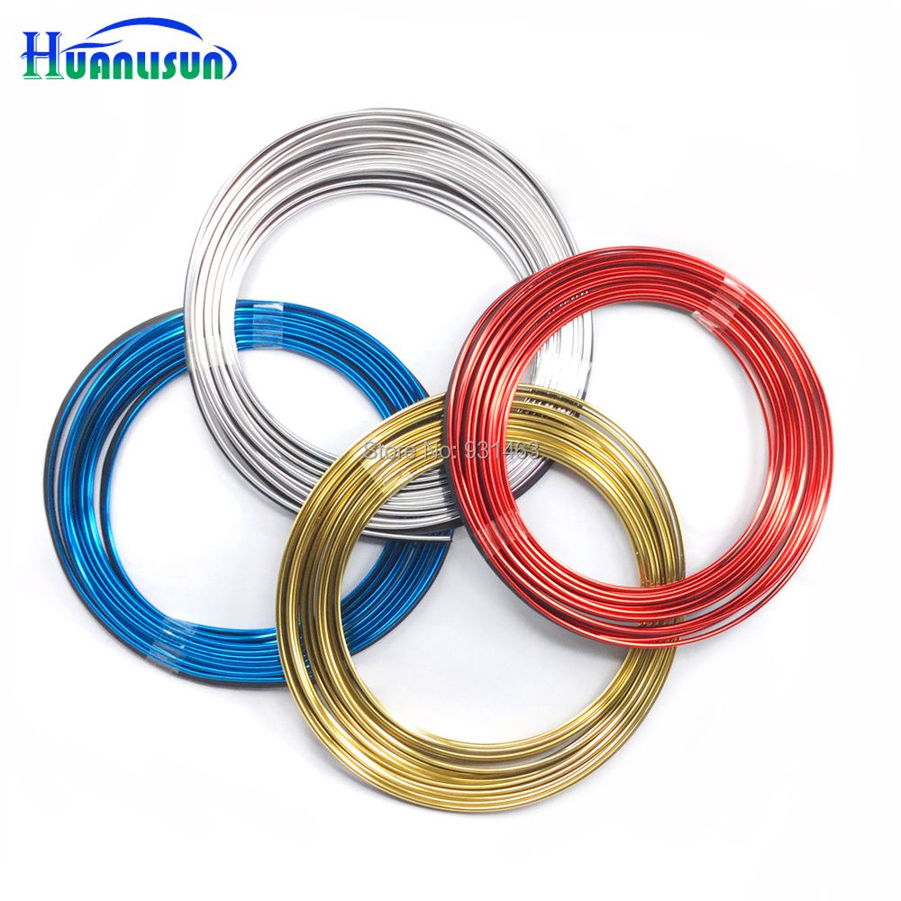 HUANLISUN 8 meters Universal car-styling Flexible Trim For Car Interior Exterior Moulding PVC Decorative Strip Chrome