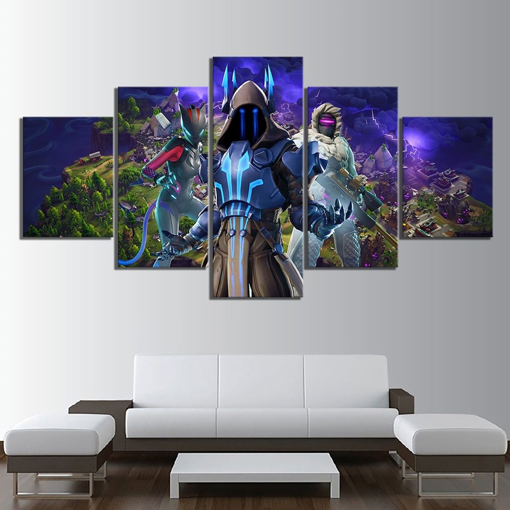 Video Game Poster Wall Art HD Printed Cuadros Pictures 5 Piece Ice King Lynx Zenith Home Decor Cartoon Canvas Painting Artworks