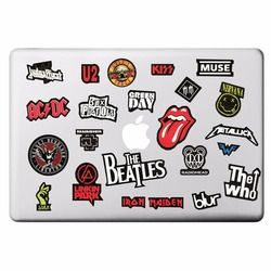 Rock Band Music Theme Laptop Sticker for Macbook Decal Pro Air Retina 11