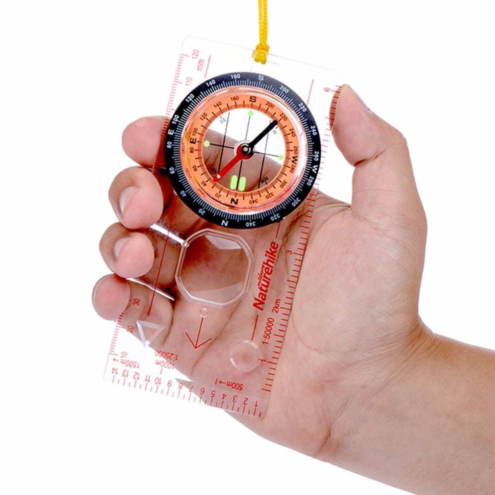 Transparent compass Direction Guide Orienteering Scouts Army Survival Camping Outdoor Hot Sale wholesale