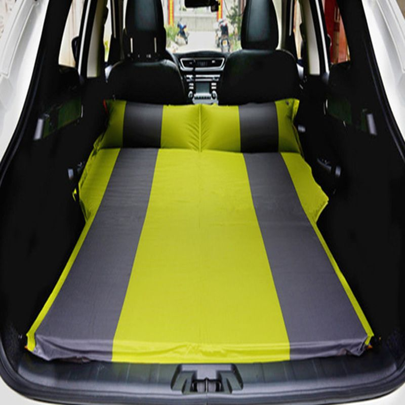 4Color SUV Car Inflatable Mattress - Seat Travel Bed Air Mattress With Air Pump Outdoor Camping Moisture-proof Pad