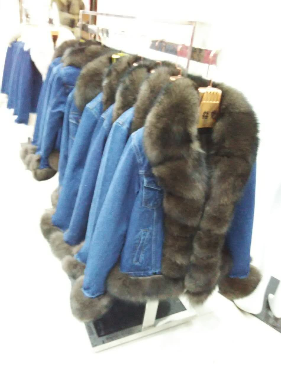 Jin li di ang 2017 natural fox fur coat, jacket, denim jacket Parkas big fox fur collar winter jacket, new fashion real fox fur