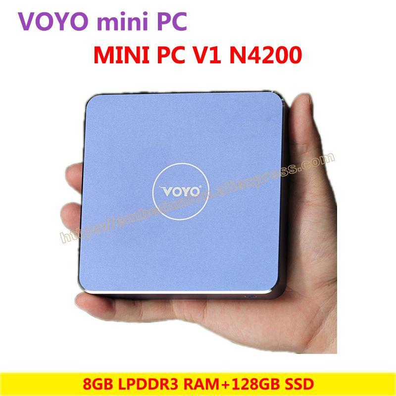 VOYO Mini PC Vmac V1 N4200 (4GB/8GB DDR3L RAM+128/256GB SSD) Windows 10 Pocket PC Intel Lake Apollo CPU 4K HD output 3 x USB3.0