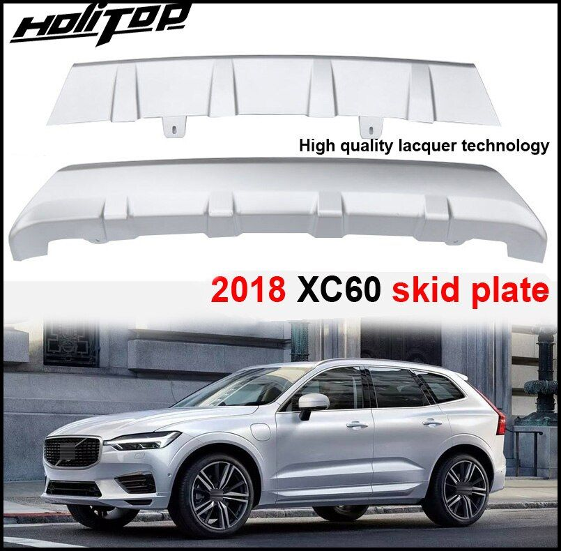 Newest bumper guard bumper protection cover skid plate for VOLVO XC60 2017 2018+,new PP & ABS material. 2pcs/set,ISO9001 quality