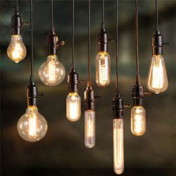 Kaigelin Retro Edison Cahaya E14 E27 Filamen Bola Lampu Pijar Bulb ST64 G80 Squirrel-Kandang Karbon Bulb Vintage Bulb Pendant lampu
