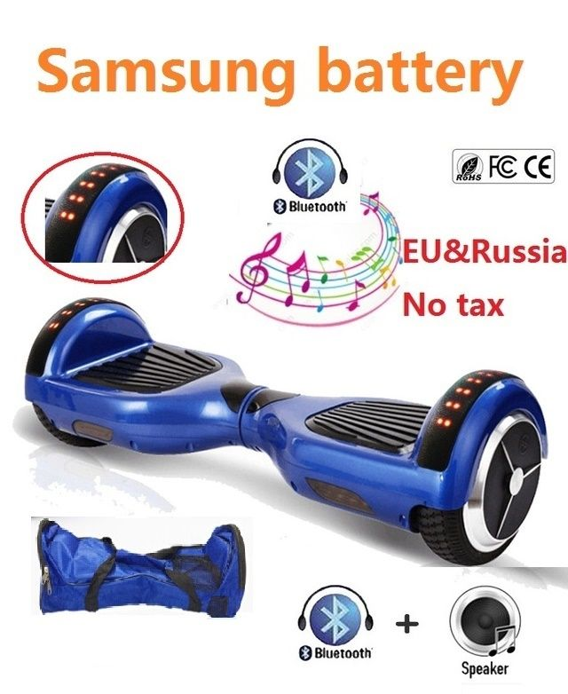 6.5 '' inch hoverboard bluetooth and LED skateboard 2 Wheel Self balancing Gyroscooter Cheap Overboard Gyro Scooter for Kids