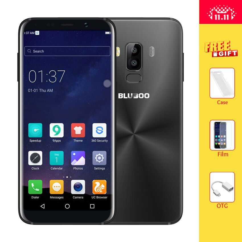 Bluboo S8 5.7'' Full Display 4G LTE Smartphone 3GB RAM 32GB ROM MTK6750T Octa Core Android 7.0 Dual Rear Camera Mobile Phone