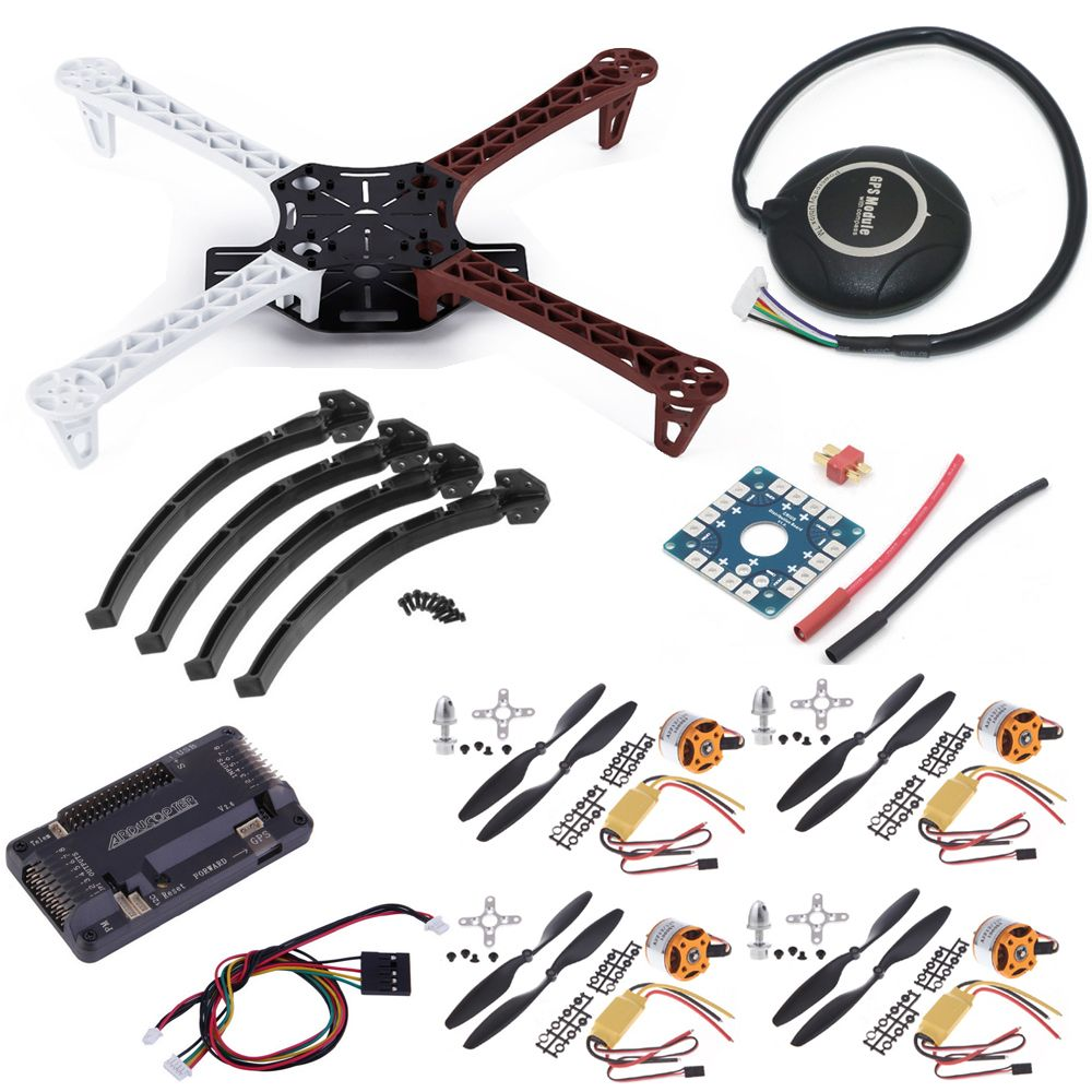 F450 Quadcopter Rack Kit Frame APM2.6 and 7M GPS A2212 2212 1000KV XXD 30A 1045 Props For Rc Quadcopter